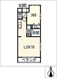 クレスト上名古屋[2階]の間取り