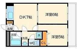 第2高光マンション[3階]の間取り