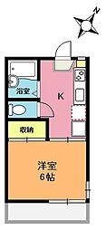 ライブコア上尾A棟[1階]の間取り