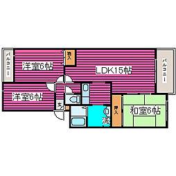 北海道札幌市東区北四十一条東17丁目の賃貸マンションの間取り