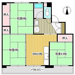 岡山県備前市東片上の賃貸アパートの間取り