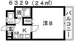 フルブルーム[402号室号室]の間取り