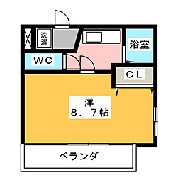 グランドハイツ21[4階]の間取り