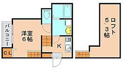 レインボー南福岡[2階]の間取り