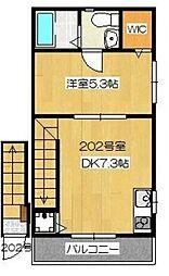 LEA OHANA[2階]の間取り
