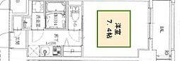 ワールドアイ神戸湊町 7階1Kの間取り