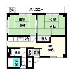 神奈川県川崎市多摩区東生田2丁目の賃貸マンションの間取り