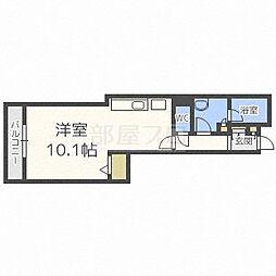PRIME URBAN札幌リバーフロント プライムアーバンサッポロ[8階]の間取り