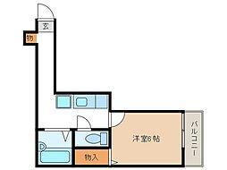 ロッシェル南台第6[2階]の間取り