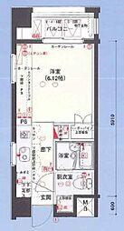 バージュアル武蔵小杉[6階]の間取り