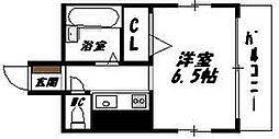 大阪府大阪市生野区鶴橋3丁目の賃貸マンションの間取り