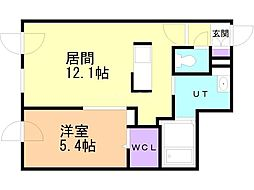 Premier-ist N.43 3階1LDKの間取り