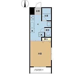 新潟県新潟市東区石山2丁目の賃貸アパートの間取り