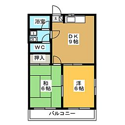 ファ−ストハウス[2階]の間取り