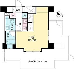 MODIER ICHIGAYA 5階1Kの間取り