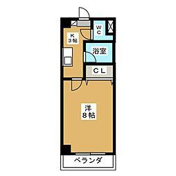 愛知県名古屋市瑞穂区神前町2丁目の賃貸マンションの間取り
