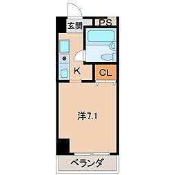 シェトワ城東[4階]の間取り