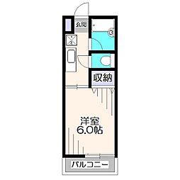 プレミール東伏見[2階]の間取り