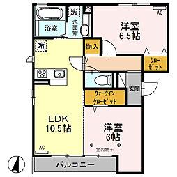 (仮)D-room荒牧町[305号室]の間取り