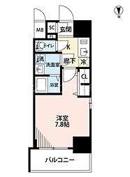 Osaka Metro御堂筋線 江坂駅 徒歩9分の賃貸マンション 4階1Kの間取り