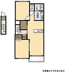 ディア コート[2階]の間取り