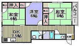 道井ビル[3階]の間取り