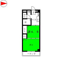 ヴァンクール小田原[4階]の間取り