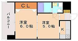 エステートモア平尾センティモ[8階]の間取り