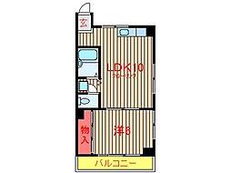 新田ハイツ[105号室]の間取り
