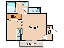 和歌山県和歌山市楠見中の賃貸アパートの間取り