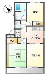 パインハウス[2階]の間取り