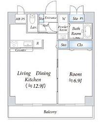 インシュランスビル6[4階]の間取り