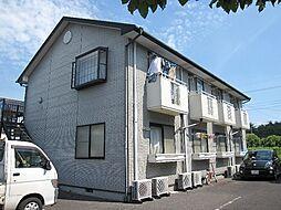 茨城県つくば市花畑2丁目の賃貸アパートの外観