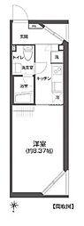 東京メトロ南北線 白金高輪駅 徒歩12分の賃貸マンション 5階1Kの間取り