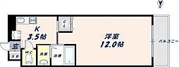 フロム東大阪[8階]の間取り