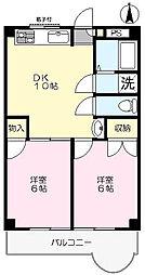 サンクラスター三郷[203号室]の間取り