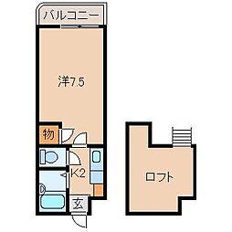 プルミエールメゾンクロダ[2階]の間取り