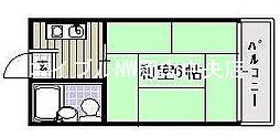 岡山県岡山市北区舟橋町の賃貸アパートの間取り