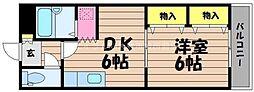 岡山県倉敷市福井の賃貸マンションの間取り