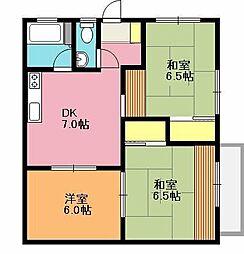 山田第2ハイツ[2階]の間取り