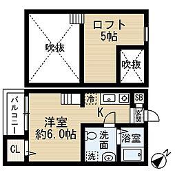 アパッショネート[2階]の間取り