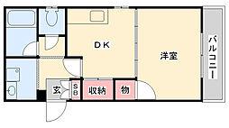 柳川ビル[302号室]の間取り