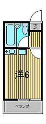 エステート西川口II[1階]の間取り