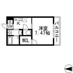 K's Residence瓢箪山(ケーズレジデンス)[102号室号室]の間取り