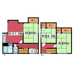 [テラスハウス] 北海道札幌市豊平区月寒東四条9丁目 の賃貸【/】の間取り