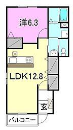 アルフィーノはる C・D棟[D105 号室号室]の間取り