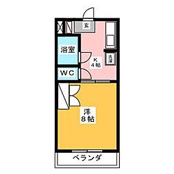 マンション四ツ池[3階]の間取り