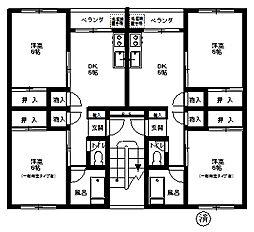 コーポ辰巳台A棟[A−5号室]の間取り