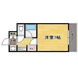 福岡県福岡市中央区那の津1丁目の賃貸マンションの間取り