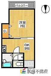 クリスタルコート・I[3階]の間取り